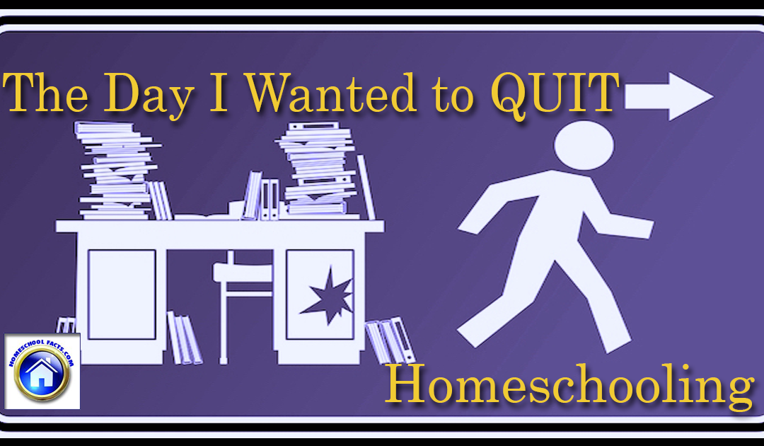 The Day I Wanted to Quit Homeschooling