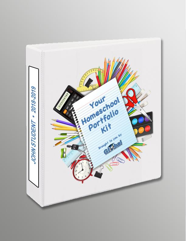free homeschool portfolio kit from global student network