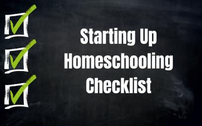 Starting Up Homeschooling Checklist